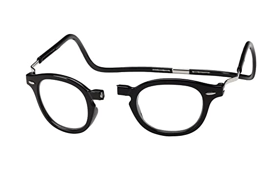 41a1ec6031a1 Amazon.com  Clic Magnetic XXL Vintage Oval Reading Glasses in Black ...
