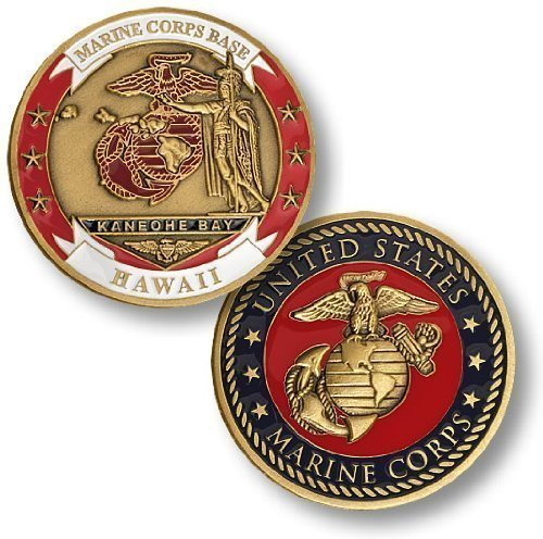 Marine Corps Base Kaneohe Bay, Hawaii Challenge Coin (Unleashed Marines)