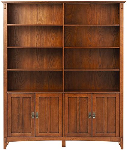 - Artisan Double Bookcase With Doors, 69