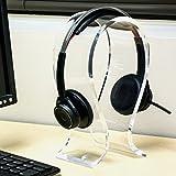 Clear Acrylic Universal Desktop Headphone Holder Stand, Gaming Headset Hanger Rack