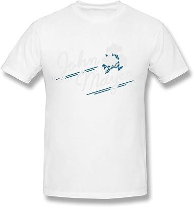 Camiseta Blanca de algodón con diseño Floral John Mayer para Hombre: Amazon.es: Ropa y accesorios
