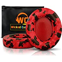 Upgraded Beats Replacement Ear Pads By Wicked Cushions - Compatible with Studio 2.0 Wired/Wireless AND Studio 3 Over Ear Headphones by Dr. Dre ONLY (DOES NOT FIT SOLO) - Red Camouflage
