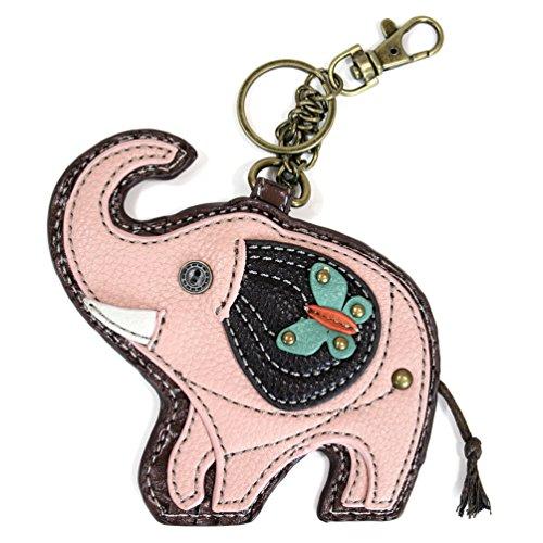 Chala Good Luck Elephant Key Chain Coin Purse Leather Bag Fob Charm New - Coin Purse Antique