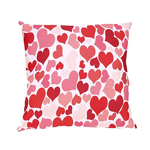 (iYBUIA Square Pillow Cases 45x45cm, Gift for Valentine's Day Sofa Car Home Decor Cushion Cover)