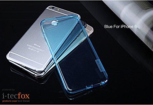 iPHONE 6 / 6S - GEL COVER [ BLAU ] - NATURE TPU CASE - CHRYSTAL CLEAR SILIKON HÜLLE, BUMPER, SCHUTZ HÜLLE