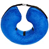 Cloud Collar - Plush, Inflatable E-Collar - For Injuries, Rashes and Post Surgery Recovery - For Large Dogs/Cats