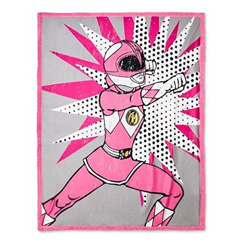 "Power Rangers Throw Blanket (60""x46"") Pink & Gray"