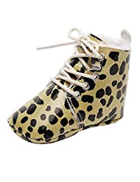 OUSLIN❤Baby Soft Sole Warm Winter Leopard Boots First Walkers Prewalker Shoes(Infant/Toddler)