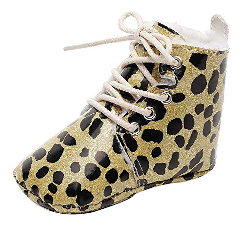 Colmkley Baby Toddler Girls Boys Print Warm Boots First Walkers Soft Sole Shoes