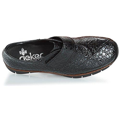 Rieker Nero Derbies Noires 537C5 Derbies Rieker HTqF6