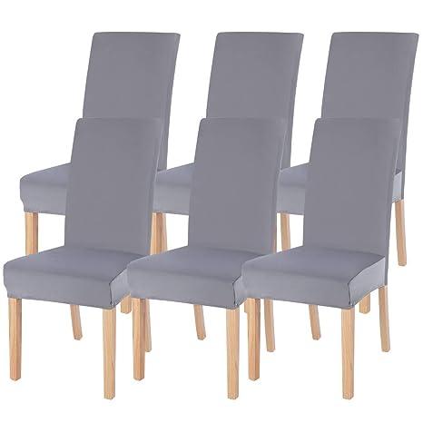 SearchI Fundas elásticas para sillas de comedor, extraíbles ...