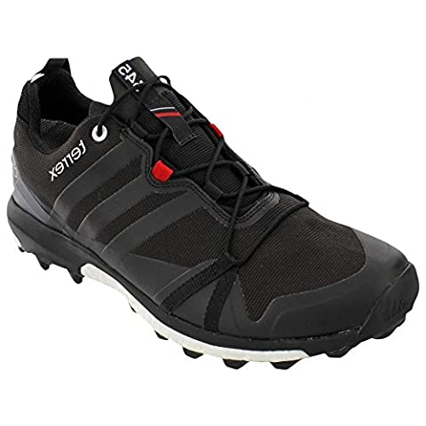 Adidas Outdoor Terrex Agravic GTX Trail Running Sneaker Shoe - Black / Power Red / White - Mens - 8