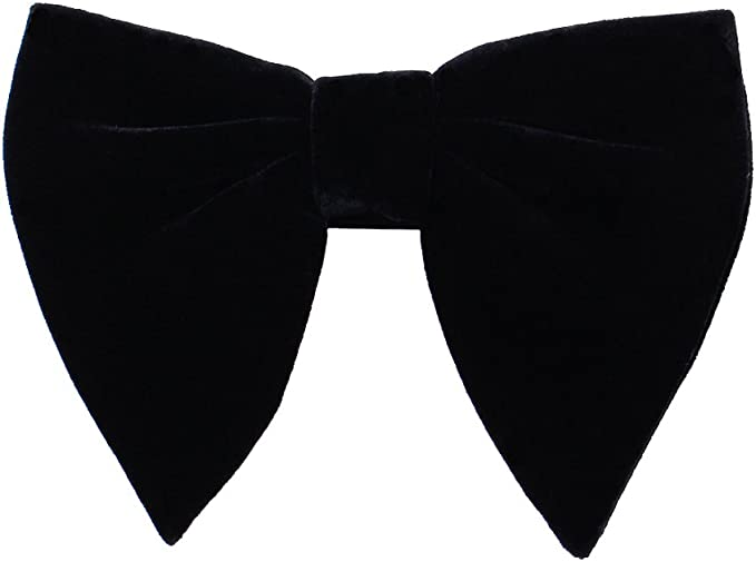 Steampunk Ties Levao Mens Velvet Vintage Bow Tie Tuxedo Big Bowtie $9.98 AT vintagedancer.com