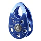 GM CLIMBING UIAA Certified 30kN Swing Cheek Micro Pulley Blue General Purpose