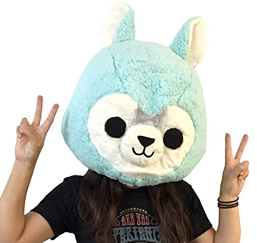 CLEVER IDIOTS Animal Head Mask - Plush Costume Halloween Cosplay (Alpaca) ()