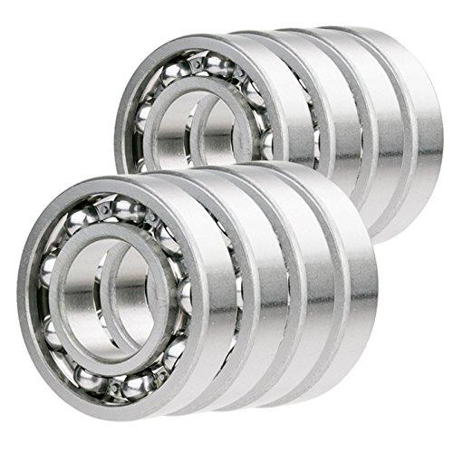 - 8x R8-OPEN Ball Bearing Premium 1/2 x 1-1/8 x 1/4