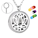 Lotus Shape Perfume Air Freshener Stainless Steel Essential Diffuser Charm Aromathrapy with 12 Pads