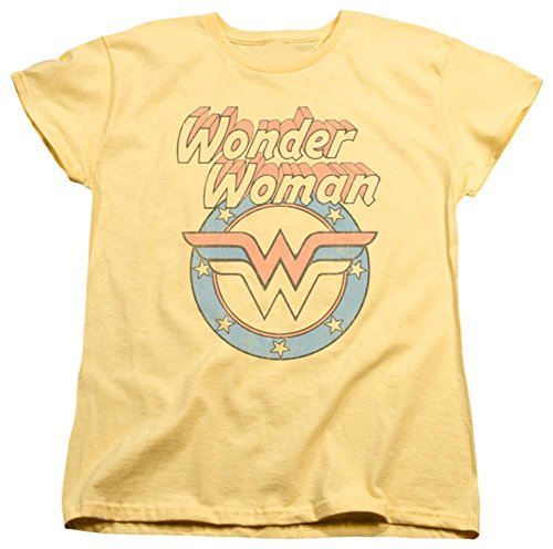 Logo Ladies Tee (Womens: Wonder Woman - Faded Wonder Ladies T-Shirt Size M)