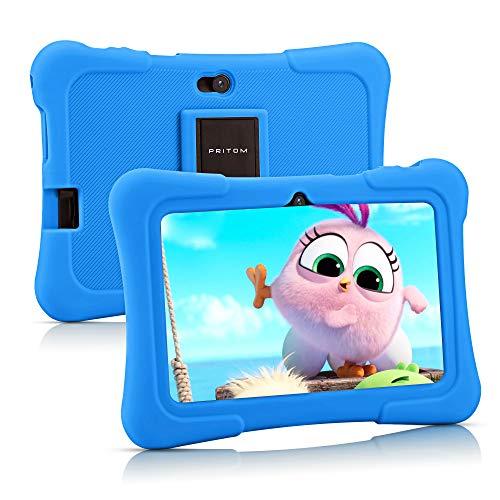 Pritom 7 inch Kids Tablet | Quad Core Android,16GB ROM | WiFi,Bluetooth,Dual Camera | Educationl,Games,Parental Control…