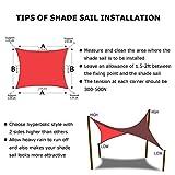 Artpuch 10' x 13' Sun Shade Sails Canopy Rectangle