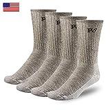 PEOPLE SOCKS 4pairs Brown Large Unisex Merino Wool Socks