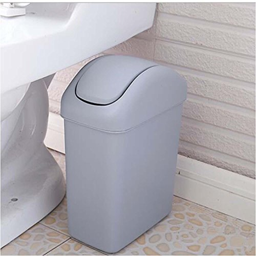 OOFYHOME Shaking trash cans, creative toilet trash cans toilet brush set, covered trash cans , C by OOFYHOME (Image #1)