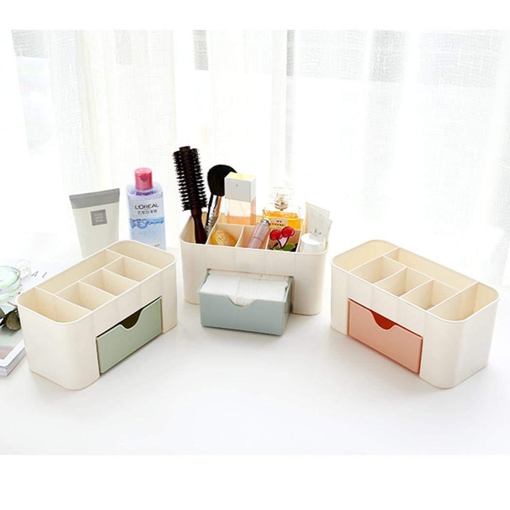 cioler Caja Multiusos del Organizador del caj/ón del Maquillaje de Las miscel/áneas de la Oficina del Color del Caramelo Organizadores de cajones