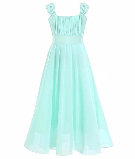 5f57e4b19a00 Amazon.com  ZAH Big Girls Chiffon A Line Wedding Gown Junior ...