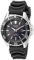 Pulsar Men's PX3037 Solar Dress Analog Display Japanese Quartz Black Watch