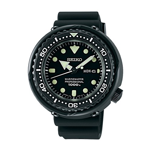 Seiko Mens PROSPEX Marinemaster He Gas Professional Diver Watch, SBBN025