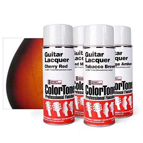 (ColorTone Tinted Aerosol Guitar Lacquer 3-Tone Tobacco Sunburst Spray Set)