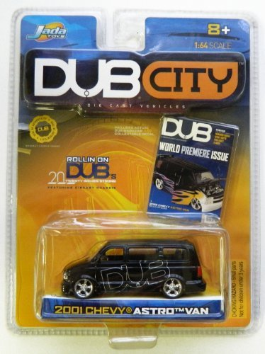 Jada 'Dub City' Series 2001 Chevy Astro Van Die Cast Collectible by Jada