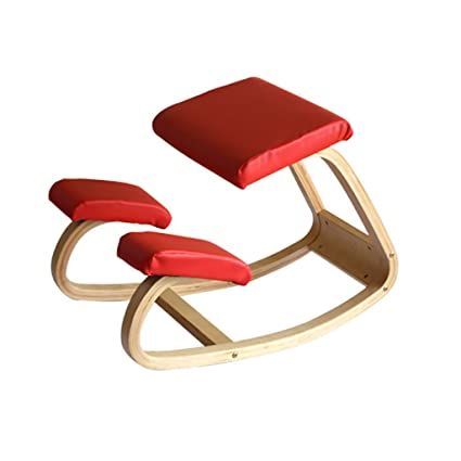 amazon com ms lounge chair wood seat posture correcting chair
