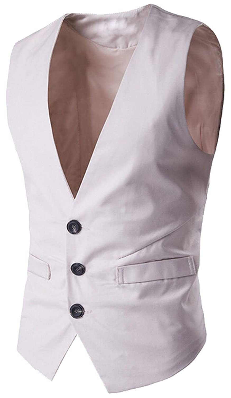Oberora-Men V-Neck Long Sleeve Slim Fit Solid Knit Shirt Pullover Sweater