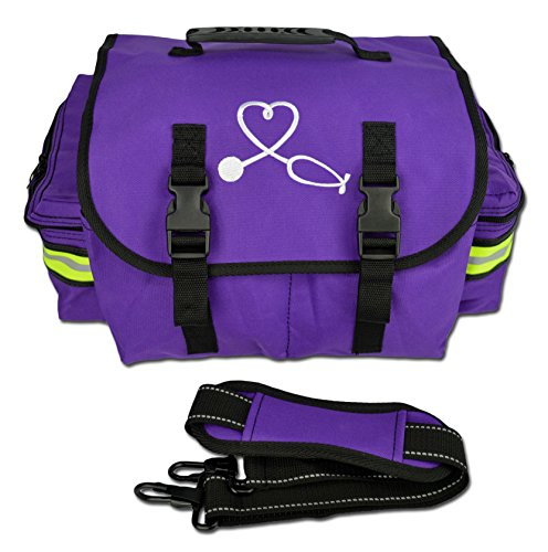 Lightning X Small EMT Nurse/Midwife First Responder Trauma EMS Jump Bag w/ Dividers (Purple)