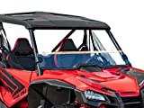 SuperATV Heavy Duty Half Windshield for Honda Talon 1000R / 1000X (2019+) - Standard Clear Polycarbonate - Installs In 5 Minutes!