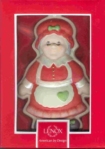 "Lenox Mrs Santa Cookie Mold Decorative Porcelain Hanging Ornament Figure 840115 - 6"" Tall"