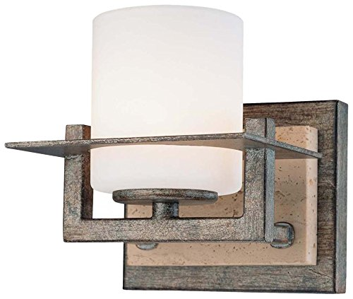 Minka Lavery Minka 6461-273 Transitional One Light Bath from Compositions Collection in Bronze Darkfinish Compositons 1 Wall Sconce, Upc-747396072081