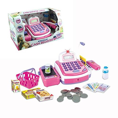 Toy Cash Register w/ Calculator, Light, Sound, Micphone