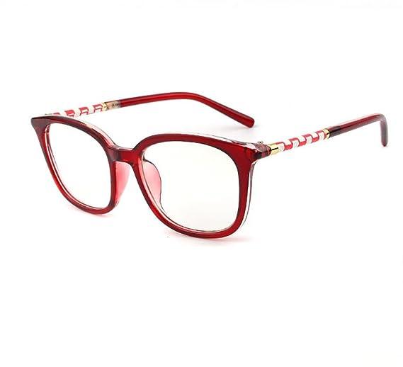 RUIRUI Occhiali da vista unisex telaio moda occhiali , bright black