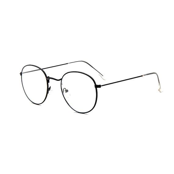 Inlefen Hombre Mujer Gafas de marco cuadrado de moda Gafas ópticas con marco de metal: Amazon.es: Ropa y accesorios