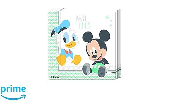 8/piezas Procos 85587/ /Platos Papel Baby Mickey /& Donald azul//blanco