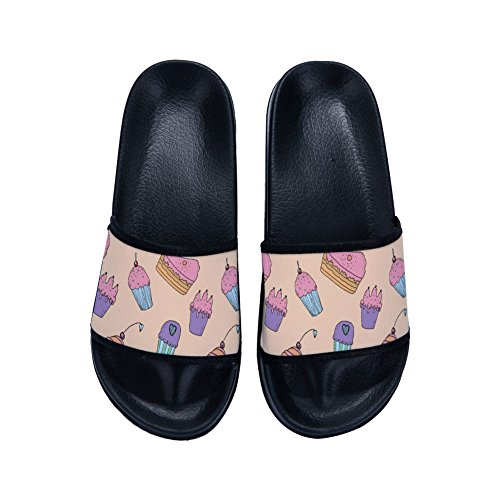 Slippers Slip Non for Cute Quick Cream Ice Slippers Black Cupcake Buteri Womens and Drying x0vqTw6YT