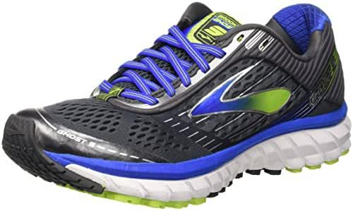 Brooks Men's Ghost 9 Anthracite/Electric Brooks Blue/Lime Punch Sneaker 7 D (M)