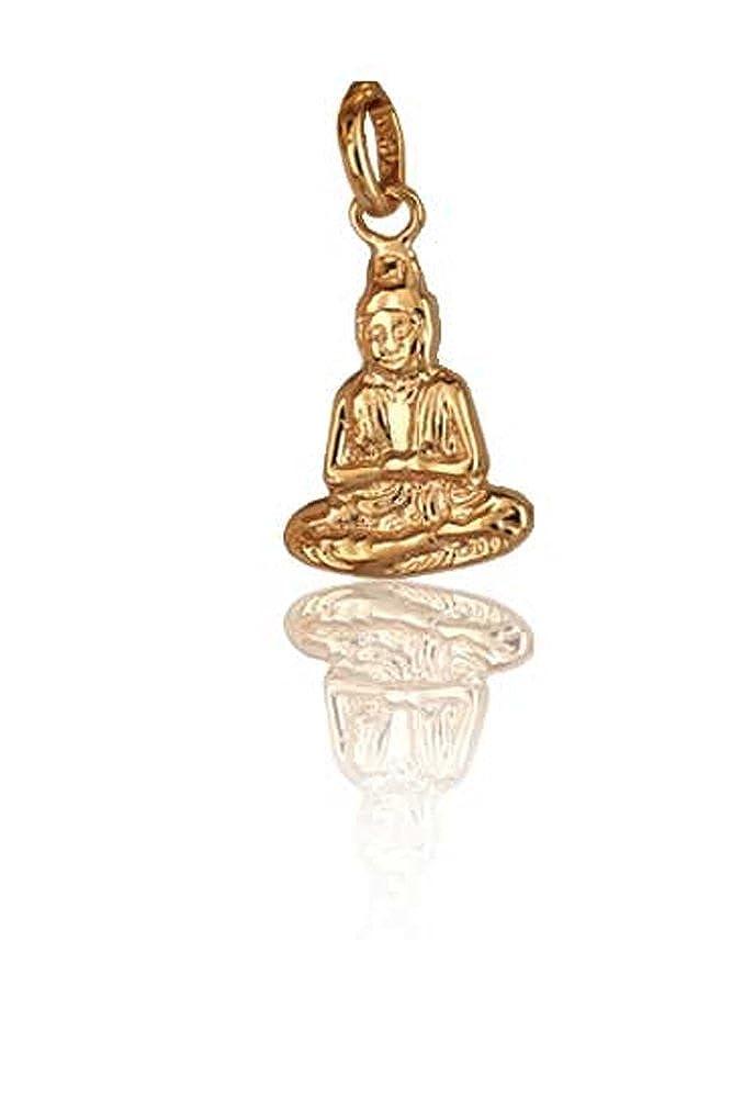 Les Plaisirs de Stella Pendentif en Plaqué Or - Bouddha Assis - Religion Bouddhisme Asie 4859