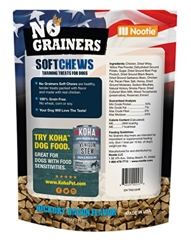 Grain-Free-Dog-Treats-and-Dog-Chews-by-Nootie-No-Grainers-2-LB-Bag-Hickory-Bacon-Package-of-Healthy-Dog-Jerky-All-Natural-Dog-Treats-Made-in-USA-Only-2lbs-of-Dog-Snacks-and-Dog-Food