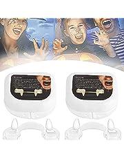 Twee stuks intrekbare Halloween vampier tanden, valse tanden kostuum partij prop tanden, enge vampier tanden, gemaakt van hars, Halloween carnaval weerwolf bijtring pak