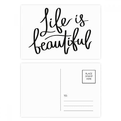 DIYthinker La vida es bella Cita Gracias tarjeta postal de ...