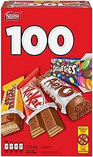 NESTLÉ Mini Halloween Assorted Chocolate & Candy - KITKAT, Coffee Crisp, AERO, Smarties - 1.02 kg (Pack of