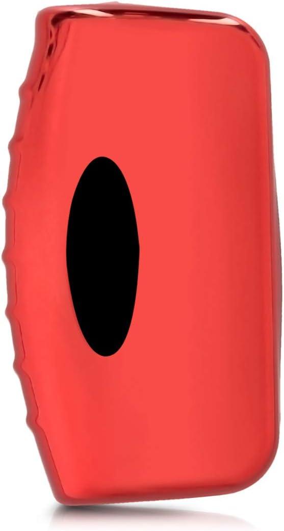 Housse de Protection Argent Haute Brillance Coque en Silicone pour Clef de Voiture Ford Pliable 3-Bouton kwmobile Accessoire Clef de Voiture pour Ford